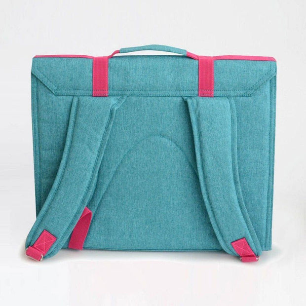 Blue and pink childrens school satchel - Bakker made With Love