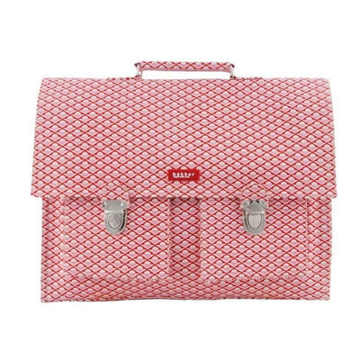 Bakker made with Love - Pink circles school satchel