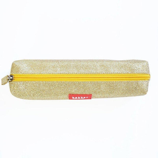 Glitter gold pencil case