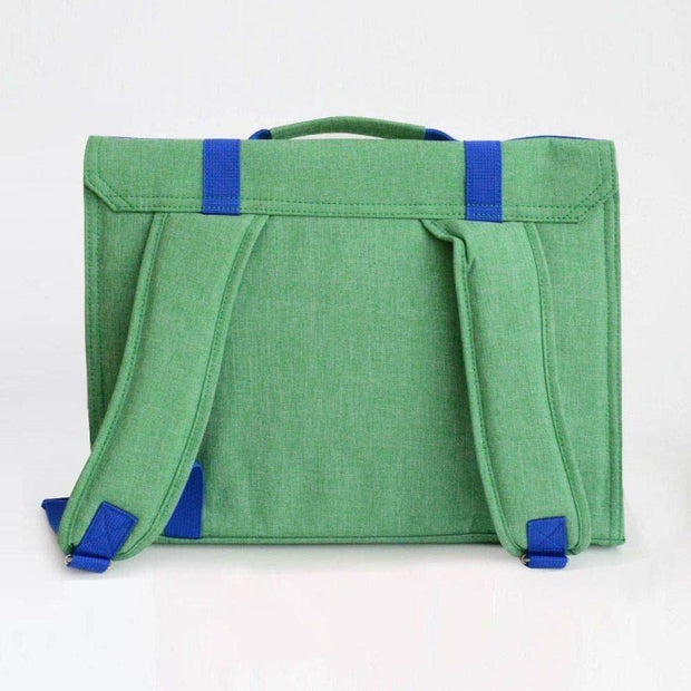childrens green satchel bakker made with love