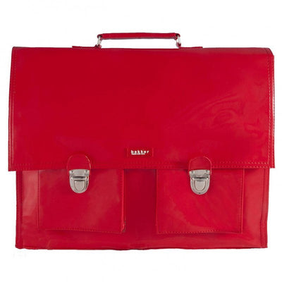 Bakker Made With Love vinyl school satchel - red