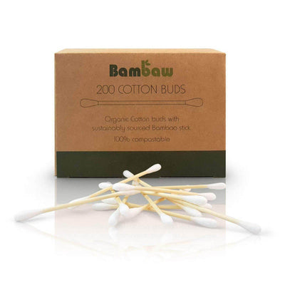 Organic cotton buds with bamboo