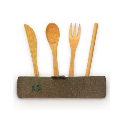 Bamboo cutlery set - French Blossom