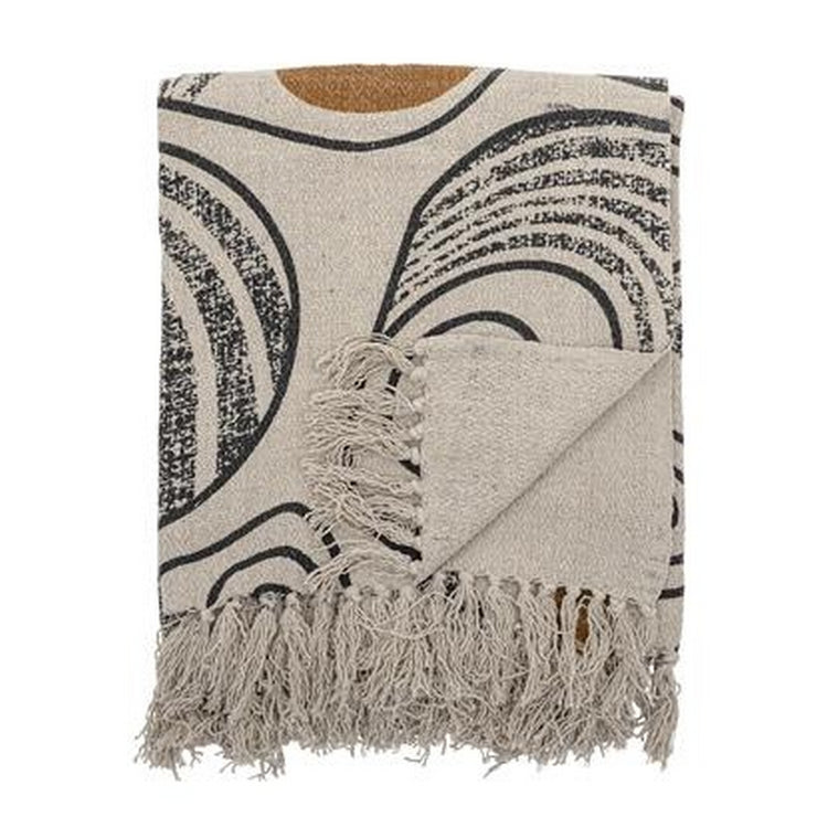Throw in recycled cotton - Natural