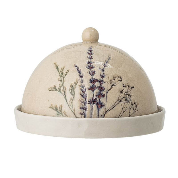Bloomingville - butter dome - bea dish - floral and original design tableware