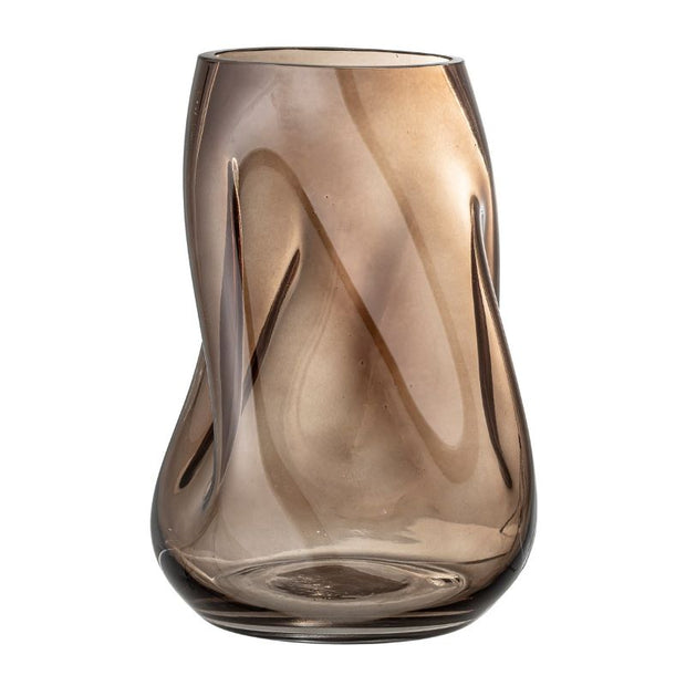 BLOOMINGVILLE - original decorative Vase - brown glass - elegant and cozy