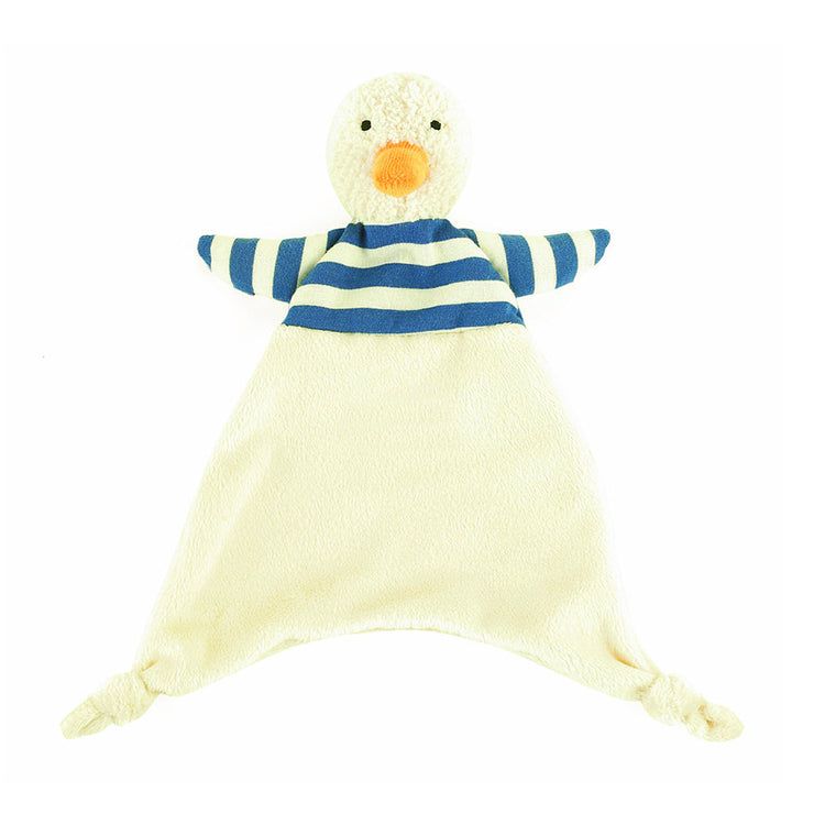 New Jellycat Bredita Duck Soft Toy Plush Blankie Soother Comforter Baby Boy Girl