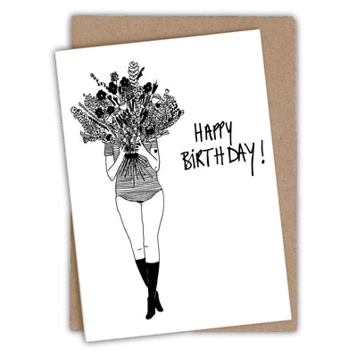 Birthday card - Flower Girl