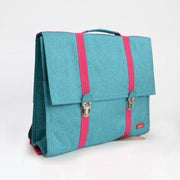 Bakker made with Love - childrens school satchel - blue and pink