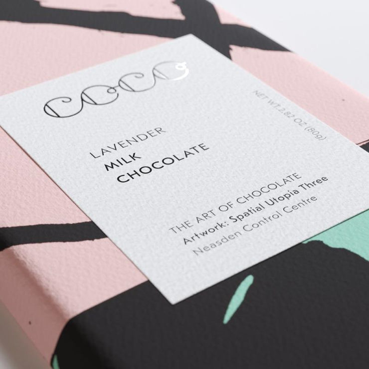 COCO CHOCOLATIER - lavender chocolate bar - milk chocolate and floral flavour