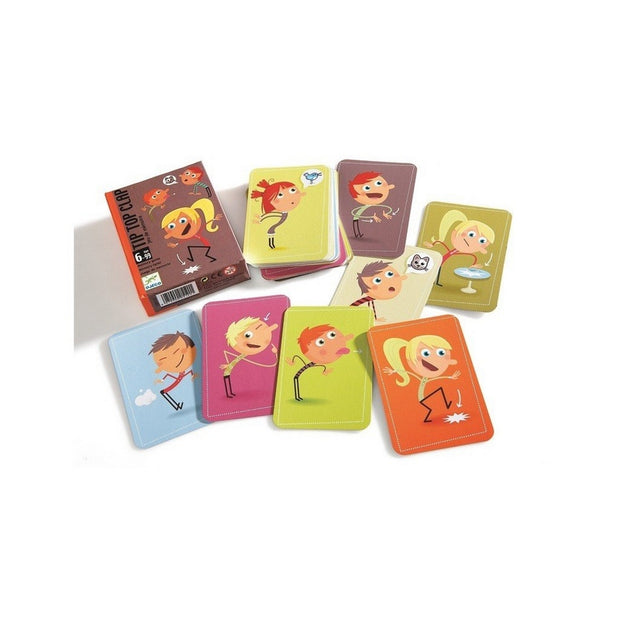 DJECO - Tip top clap card game - Mimic actions and try to remember the other's !
