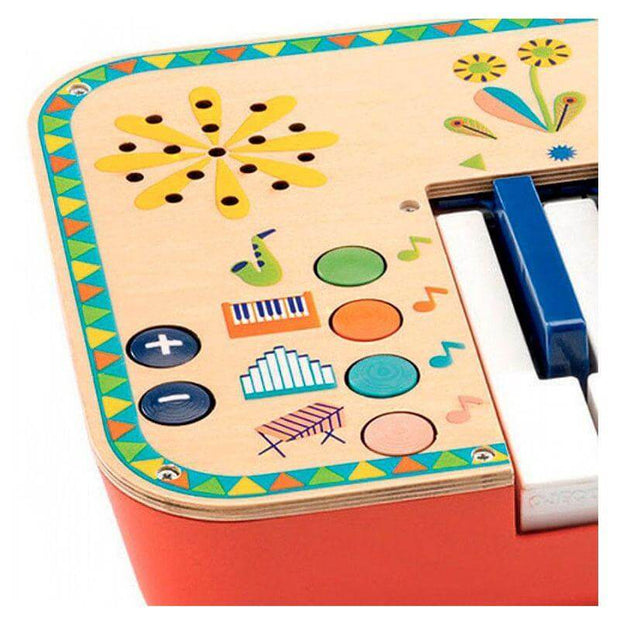 DJECO - Wooden synthesiser for kids with partition sheets - Details