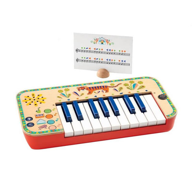 DJECO - Wooden synthesiser for kids with partition sheets