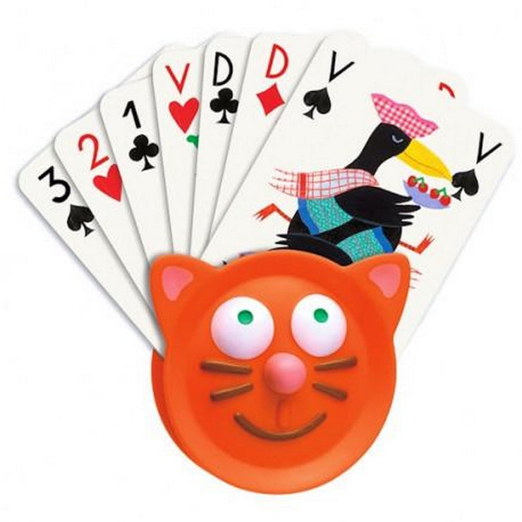 DJECO - Card holder in plastic for kids - Cat