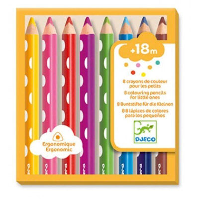 DJECO - 8 colouring pencils for kids