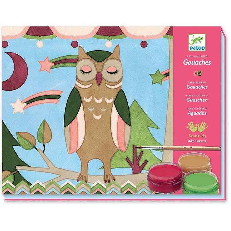 A soft and poetic paint set with gouache perfect for young artists by Djeco and Aiko