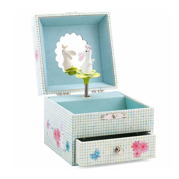 This great music box will allow to hide its small treasure on the bunny sound. Shop the Djeco items at Frenchblossom.com