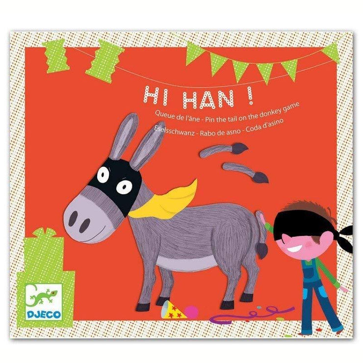 A fun game for children designed in France by Djeco pin the tail on the donkey game