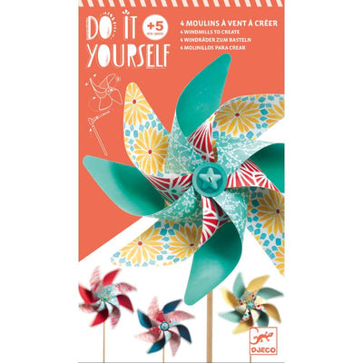 DJECO - DIY kit - paper windmills - playful activity for children - arts & crafts