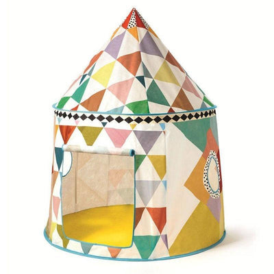 Your little ones are gonna love this wonderful multicoloured play house designed by Djeco ! This original play house for children is our favorite !