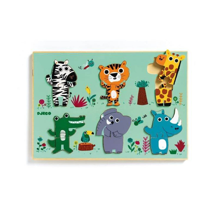 DJECO - wooden puzzle for kids - coucou croco
