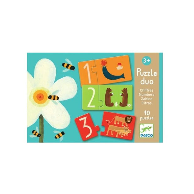 DJECO - Duo puzzle - numbers - educational toy for children