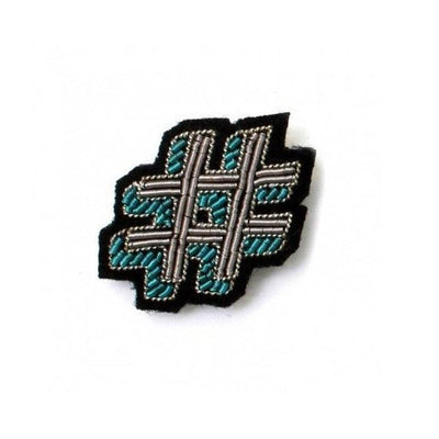 MACON & LESQUOY - Hand embroidered brooch - Hashtag