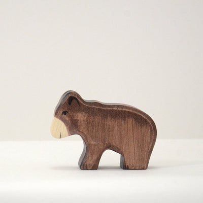 Handmade Wooden Brown bear cub