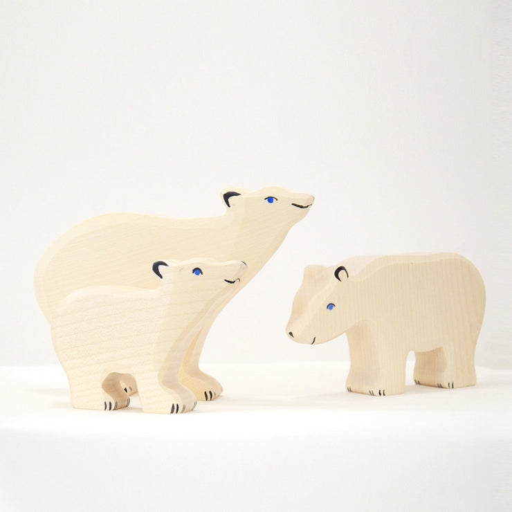 Handmade Wooden Polar bear cub