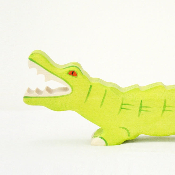 Handmade Wooden Crocodile