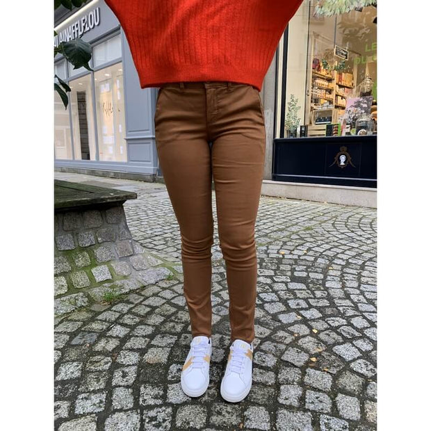 HAPPY - Joy chino trousers - cinnamon - made in France