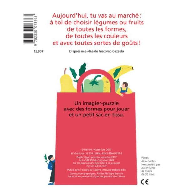 "HELIUM - french educational book for children - ""au marché, je choisis ..."""