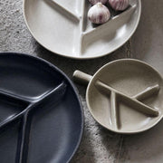 HOUSE DOCTOR - plate branch stoneware - dark grey