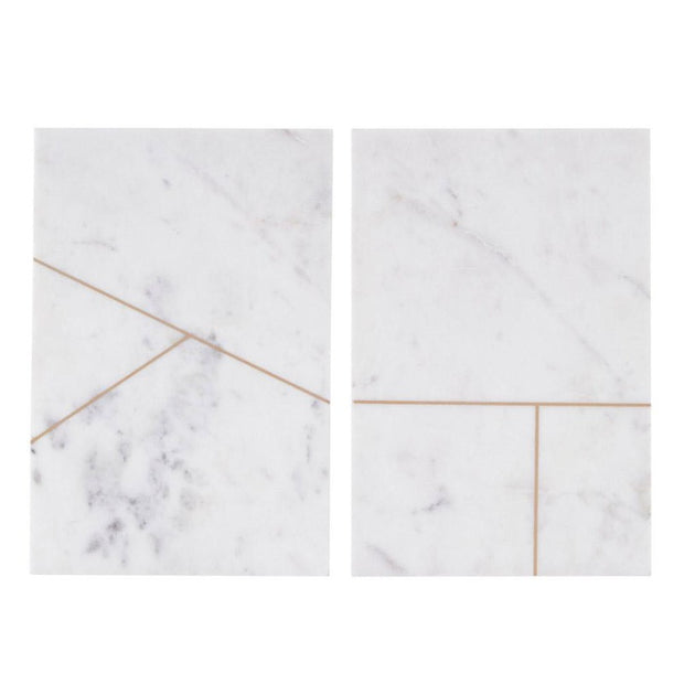 Marble cutting board - White