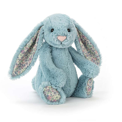 Jellycat bunny rabbit toy - aqua green