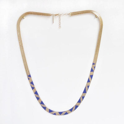 Mirage necklace - Electric blue