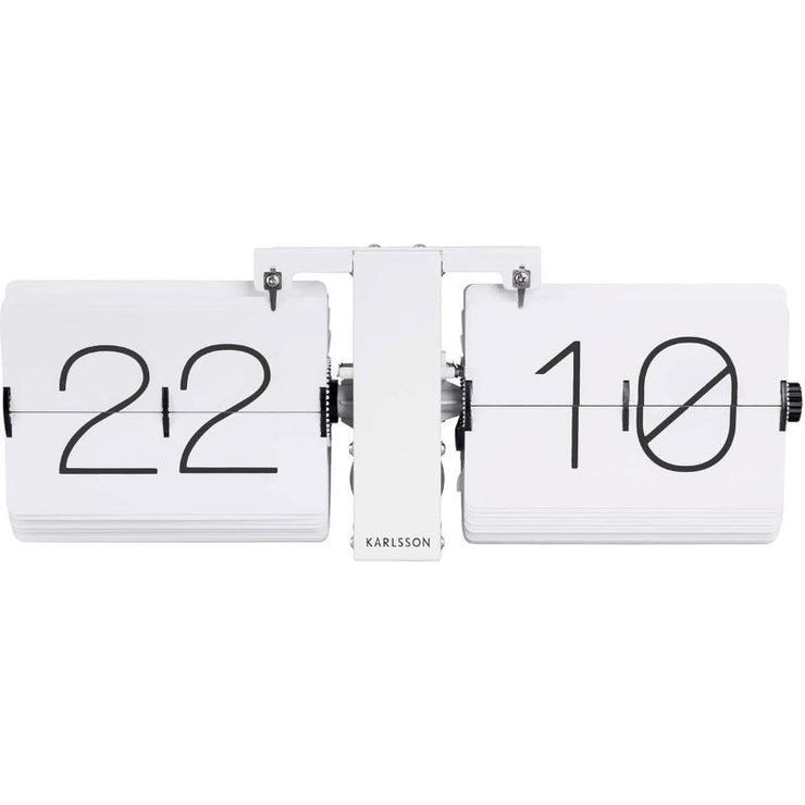 KARLSSON - No case flip Clock - white - design and modern decoration