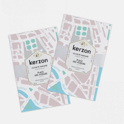 KERZON - scented sachets for laundry - Place des Vosges - rose and geranium