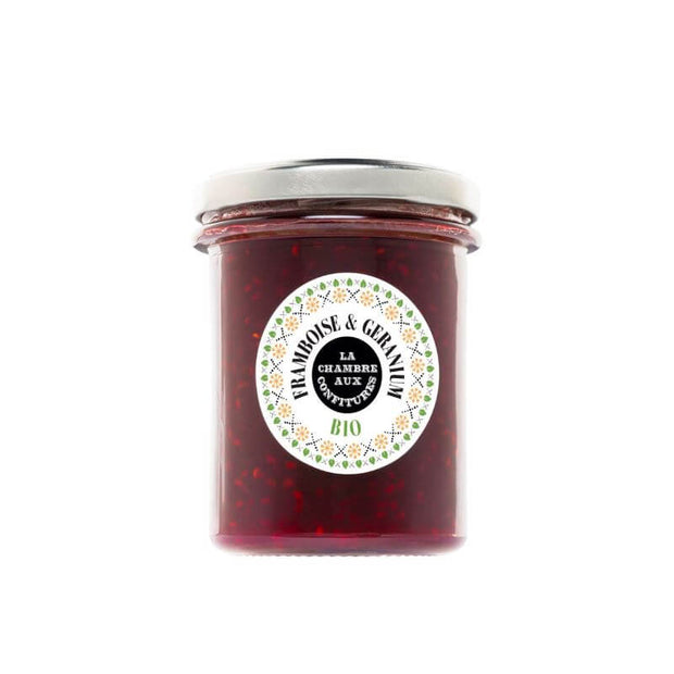 La Chambre aux confitures - Organic Raspberry & Geranium jam - made in France