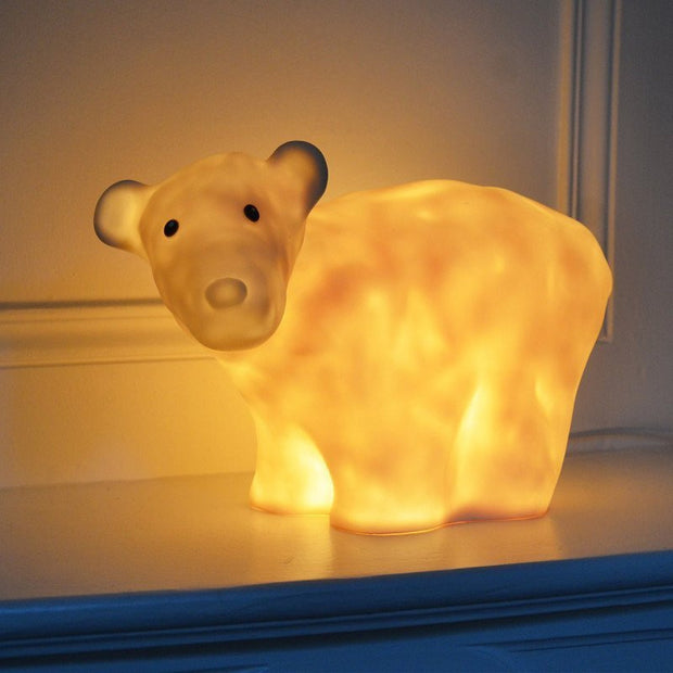 Ernest the bear lamp - White