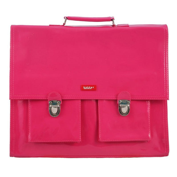 Pink vinyl school satchel - BAKKER MADE WITH LOVE