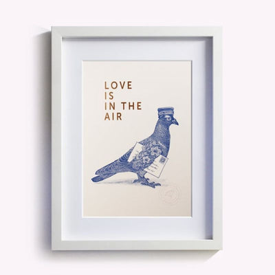 LES EDITIONS DU PAON - cute and poetic Poster - love is in the air