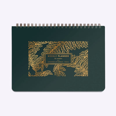 LES EDITIONS DU PAON - weekly planner made in france - fougere