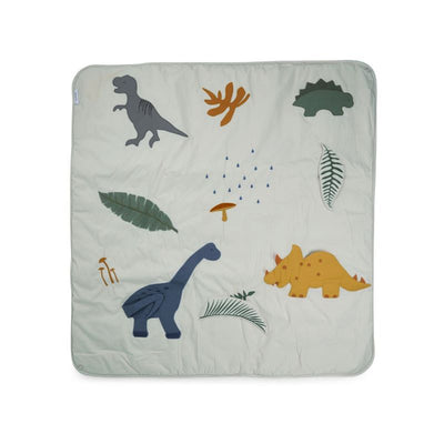 LIEWOOD - Glenn activity blanket - dino mix blue - 100% organic cotton