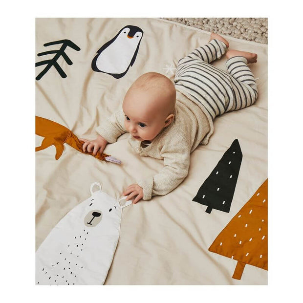 LIEWOOD - Glenn activity blanket - arctic mix - 100% organic cotton - original and cute