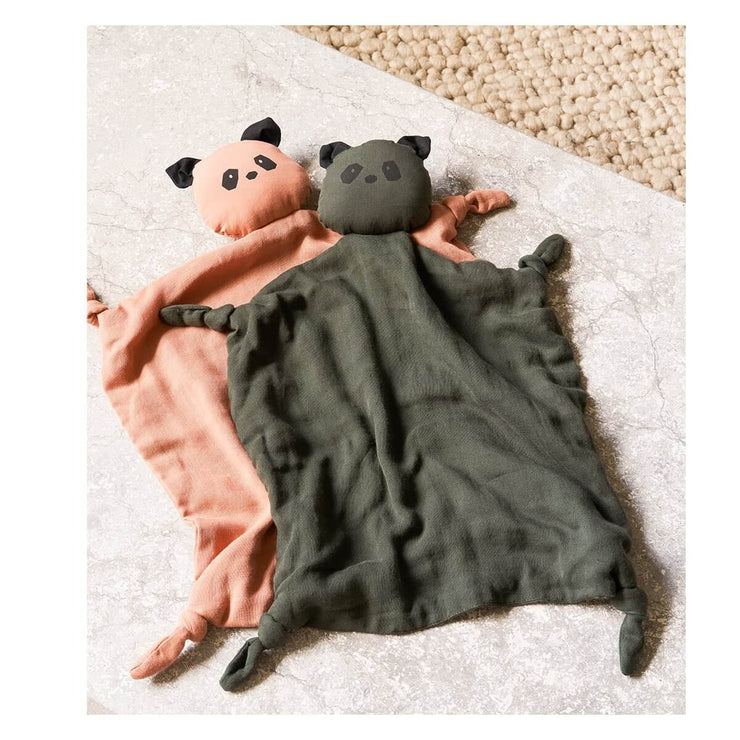 Agnete cuddle cloth - panda hunter green