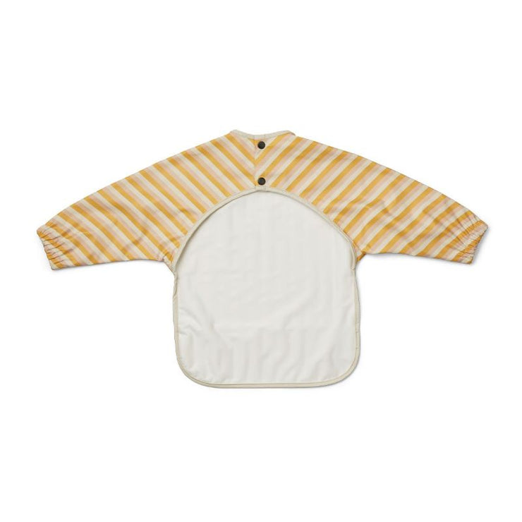 LIEWOOD - Cape bib for baby - yellow stripes - water repellent