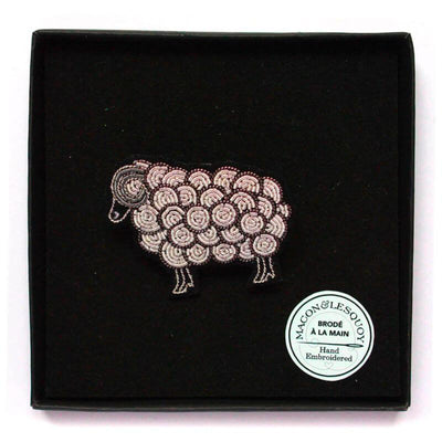 Embroidered brooch - Ram