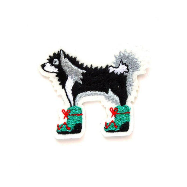 Embroidered patch -  Husky