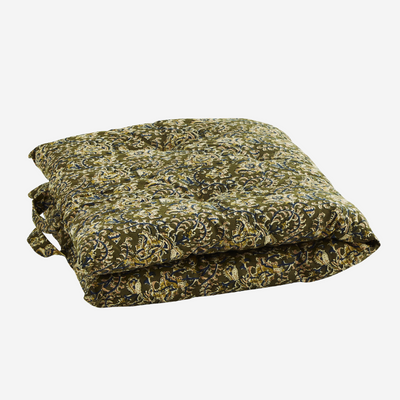 MADAM STOLTZ - printed mattress - olive - cozy and warm decoration